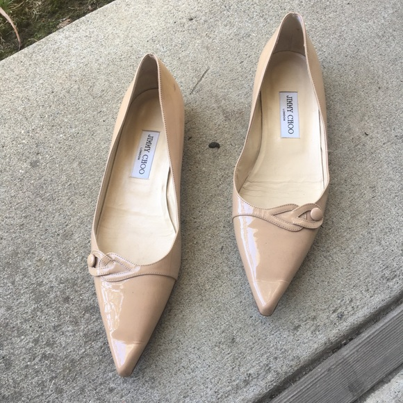 Jimmy Choo Nude Color Patent Leather